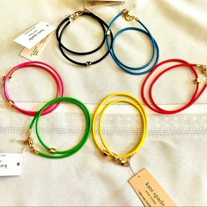 """""""Wrapped Up"""" Leather Logo Bead Bracelet, 5 colors"""